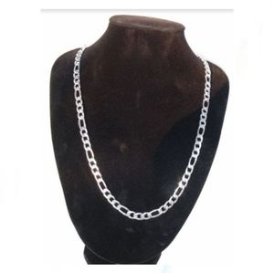 Figaro chain Stainless steel 30 in / 6 mm